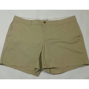Old Navy khaki shorts plus size 14